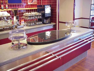 Coffee bar counter